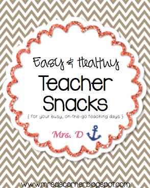 Easy + Healthy Teacher Snacks