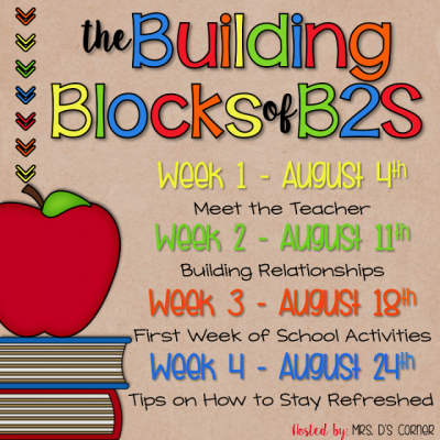 Building Blocks – Week 1 – Meet the Teacher