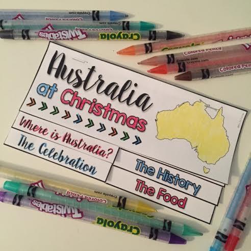 Holidays around the world in australia. Free resource.