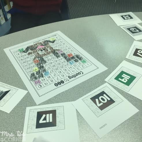 120 hundreds chart activity to set the tone for reading Mooseltoe as a december read aloud