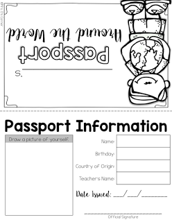 holidays around world australia passport page freebie