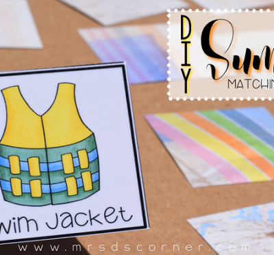 DIY Summer Match Game (with a FREEBIE)