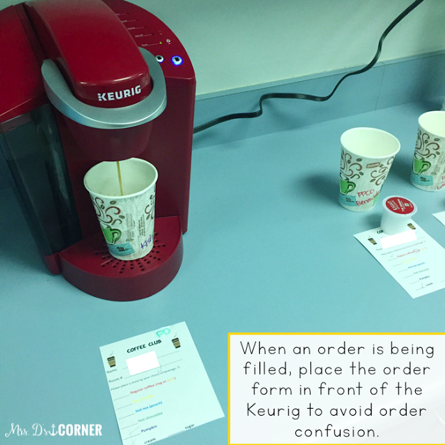 How to set up a school coffee shop for your special needs students. Having a coffee store at the elementary level is easy to put together and implement, and is a great way for students to learn life skills! A how to blog post. FREEBIE INCLUDED. Only at Mrs. D's Corner.