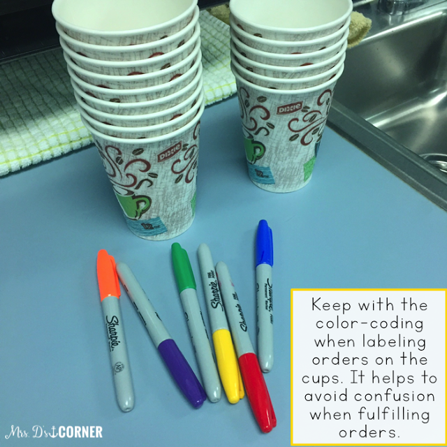 Turn your students into confident baristas as they follow a recipe, practice social skills, adhere to good hygiene, strengthen number recognition, and more.