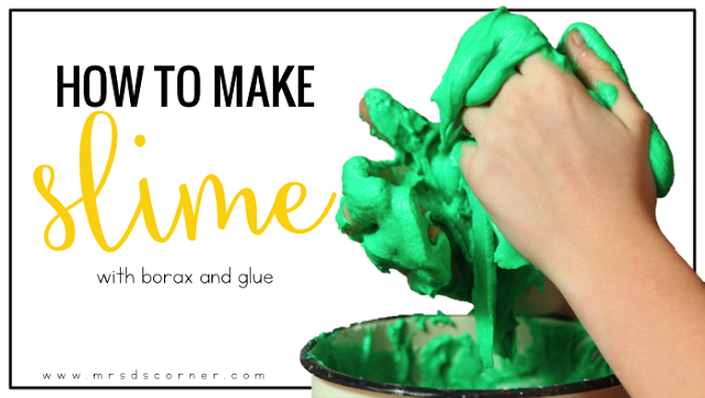 Sensory input for students how to make slime mrs ds corner cooking in the classroom is fantastic but you can use visual recipes for so much ccuart Images