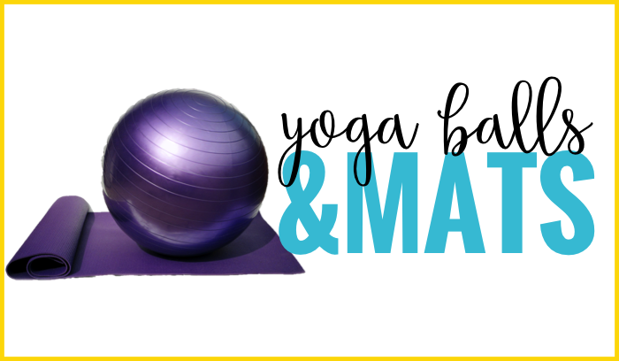 yoga balls and mats flexible seating