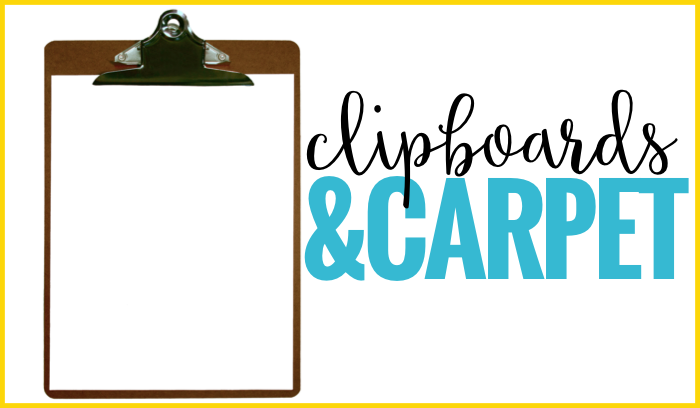 clipboards and carpet flexible seating