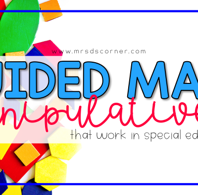 Guided Math: Must Have Manipulatives