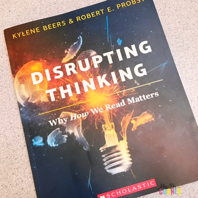 Disrupting thinking why how we read matters. Professional Development books for teachers to read. Helpful books for teachers and parents of students with special needs. Reviews and blog post at Mrs. D's Corner.