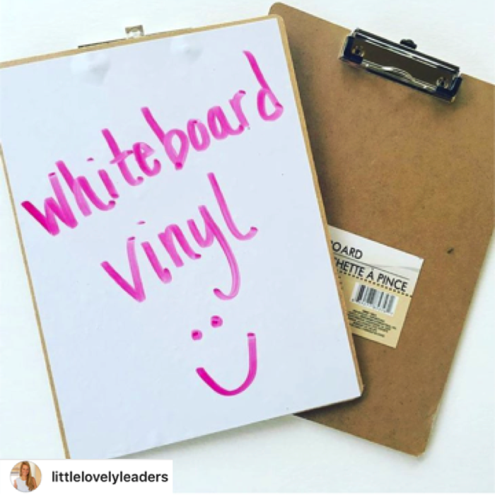 Add vinyl to the back of a clipboard.